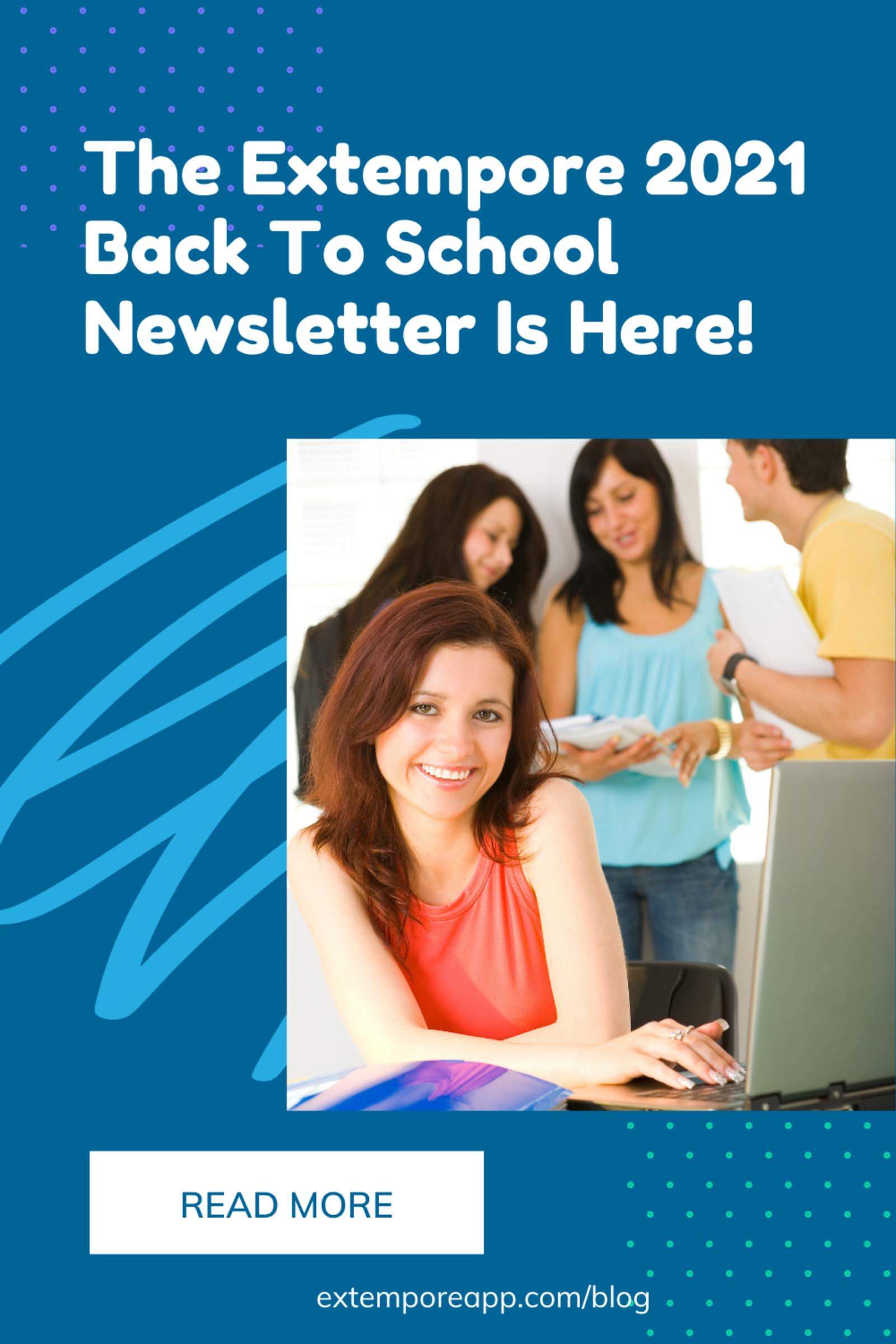 2021 Back To School Newsletter